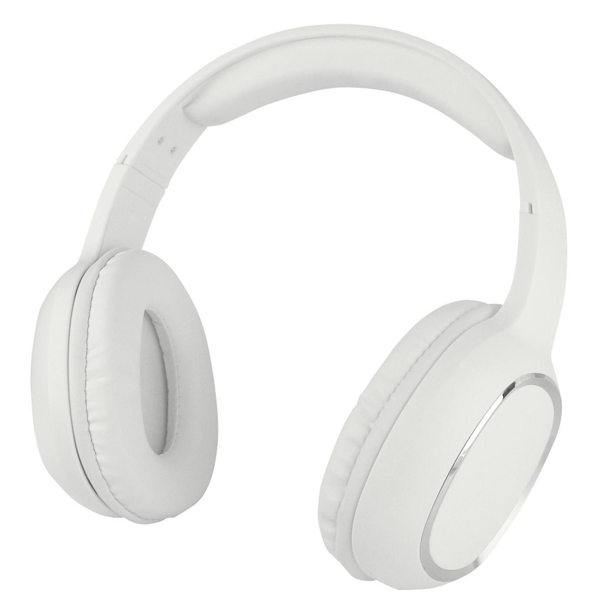 Cuffia Stereo Bluetooth con Microfono Bianco