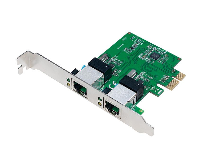Scheda di rete 2 porte Gigabit PCI Express