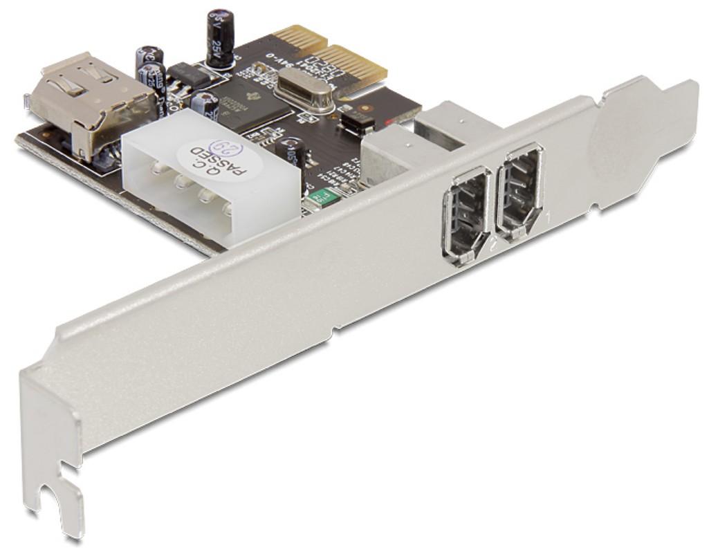 Scheda PCI Express FireWire 2 Esterne 1 Interna