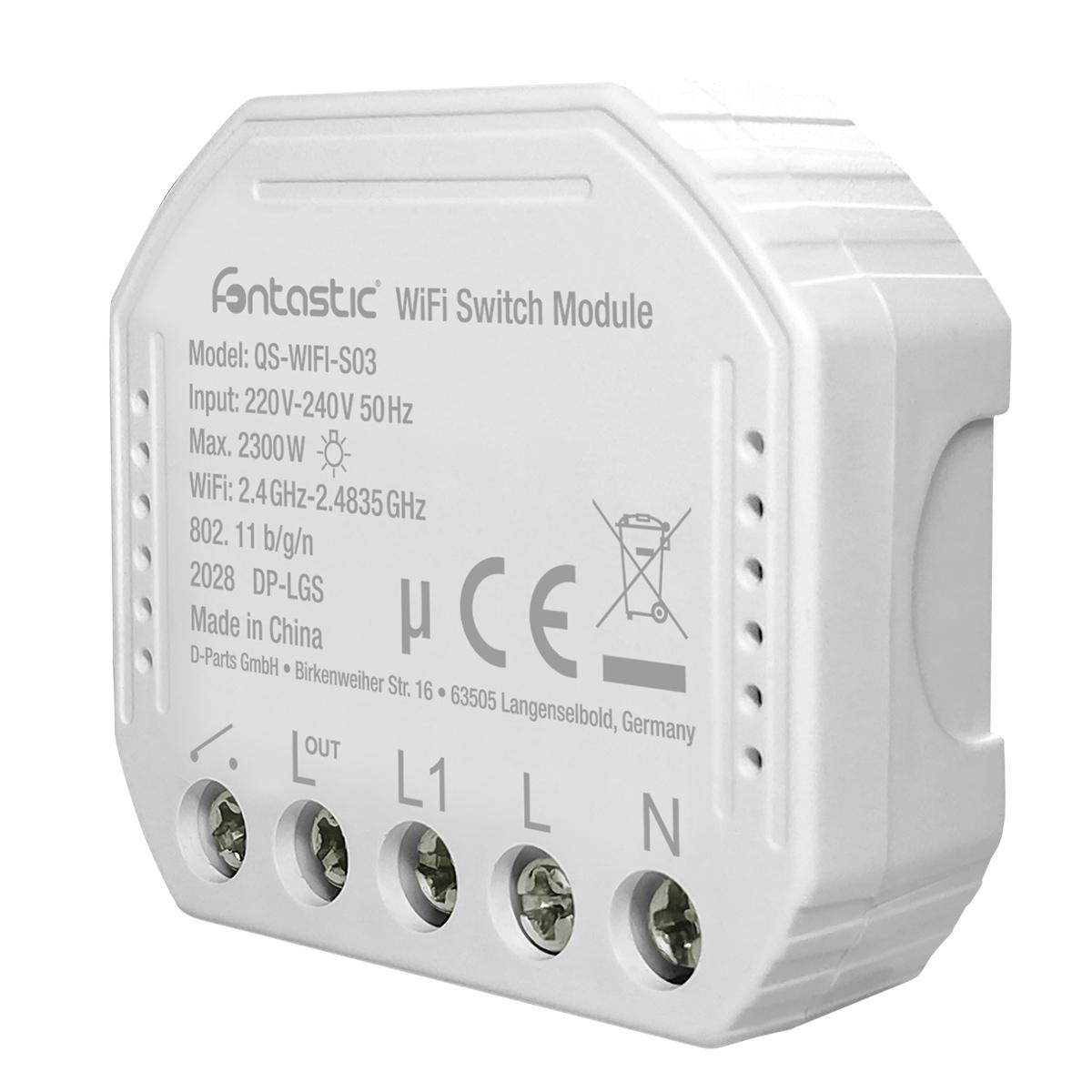 Interruttore Smart Switch WiFi da Incasso 10A 2...