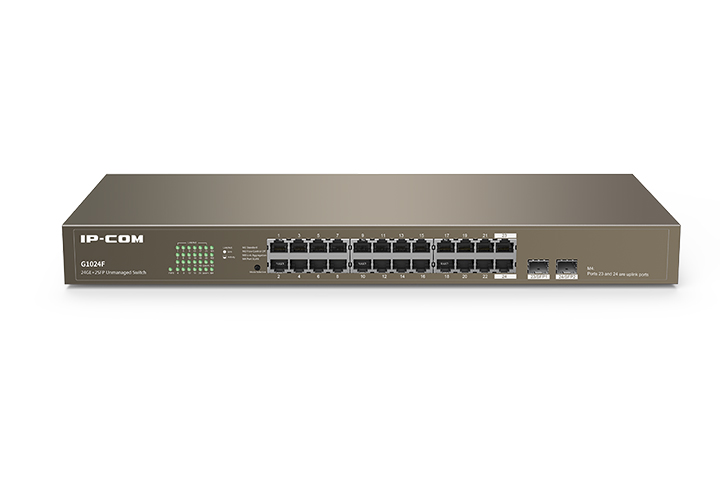 Switch Ethernet Gigabit 24 Porte+2 porte SFP La...