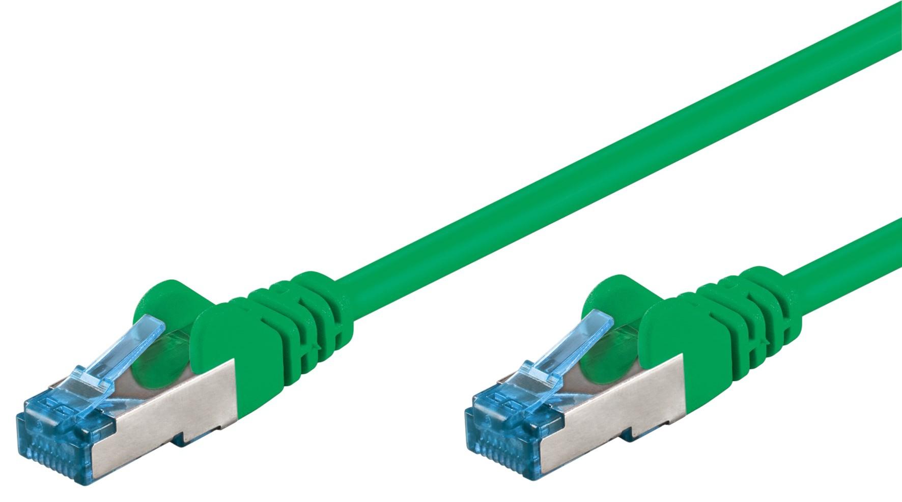 Cavo di rete Patch in rame Cat. 6A Verde SFTP L...