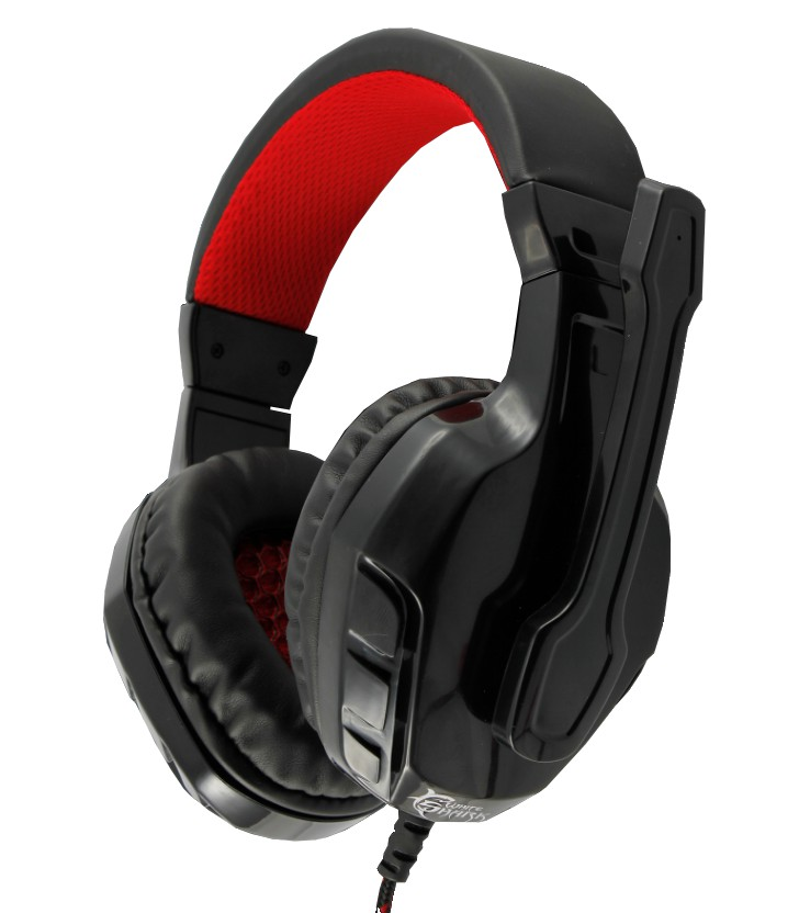 Cuffie Gaming con Microfono Panther Nero Rosso ...