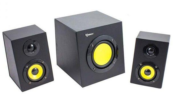 Sistema Speaker Stereo con Subwoofer 2.1 12W Nero