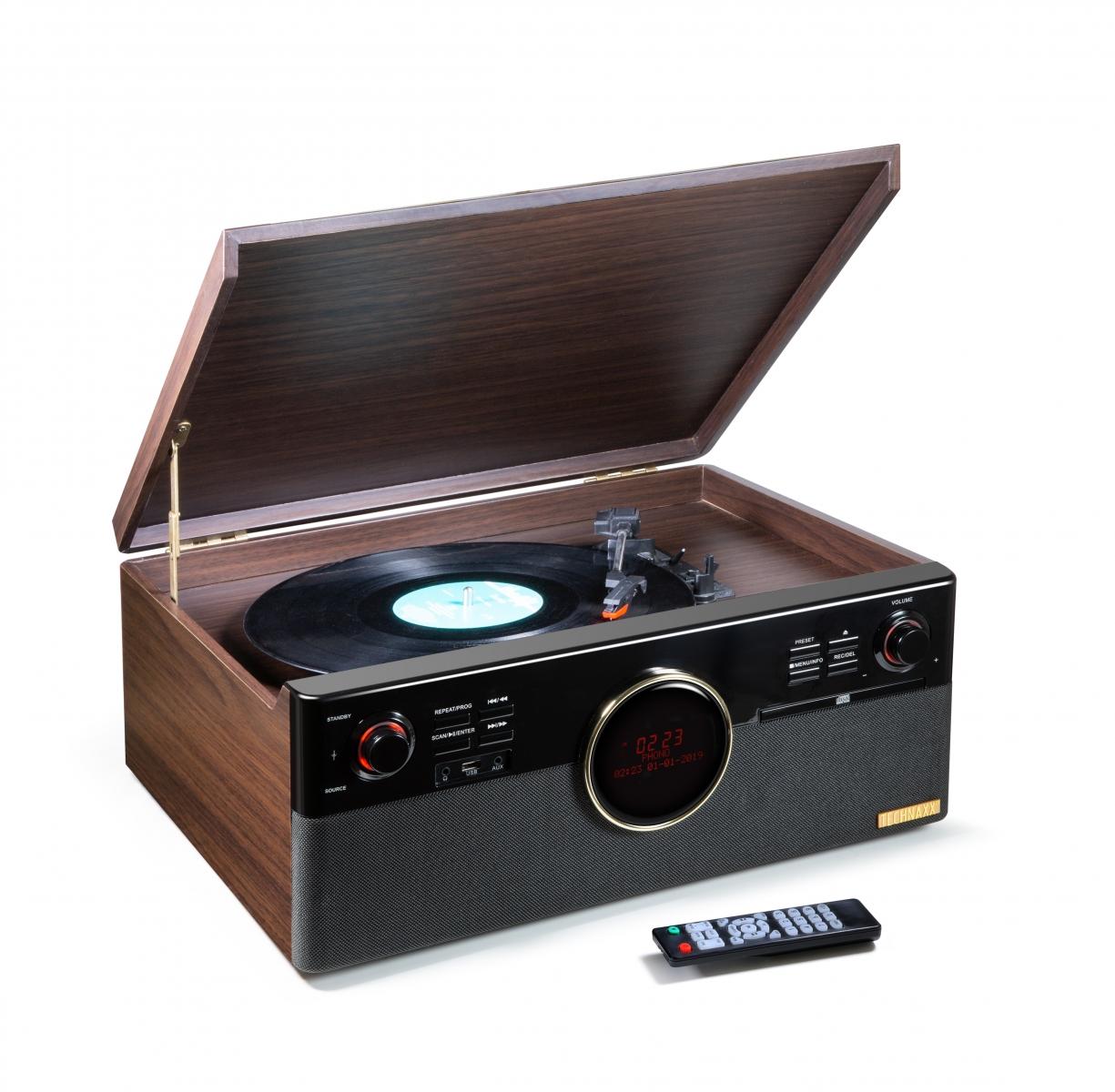 DAB Radio FM Bluetooth 5.0 Giradischi CD Speake...
