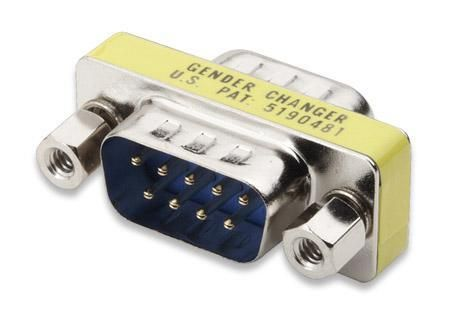 Mini Gender Changer Standard DB 9 poli M/M