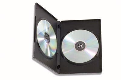 Custodia Doppia per DVD/CD BOX  Nero