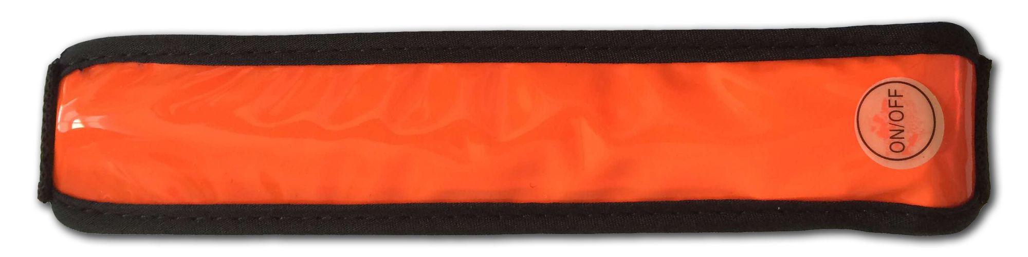 Fascia LED riflettente multiuso arancio con gan...