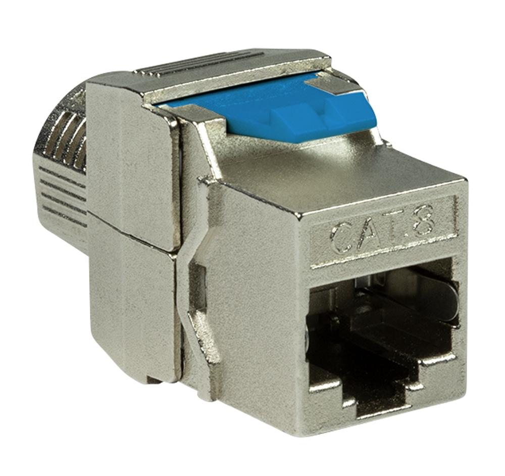 Plug Cat.8.1 Keystone STP Larghezza 16,5mm Tool...