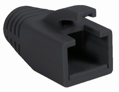 Copriconnettore per Plug RJ45 Cat.6 8mm Nero