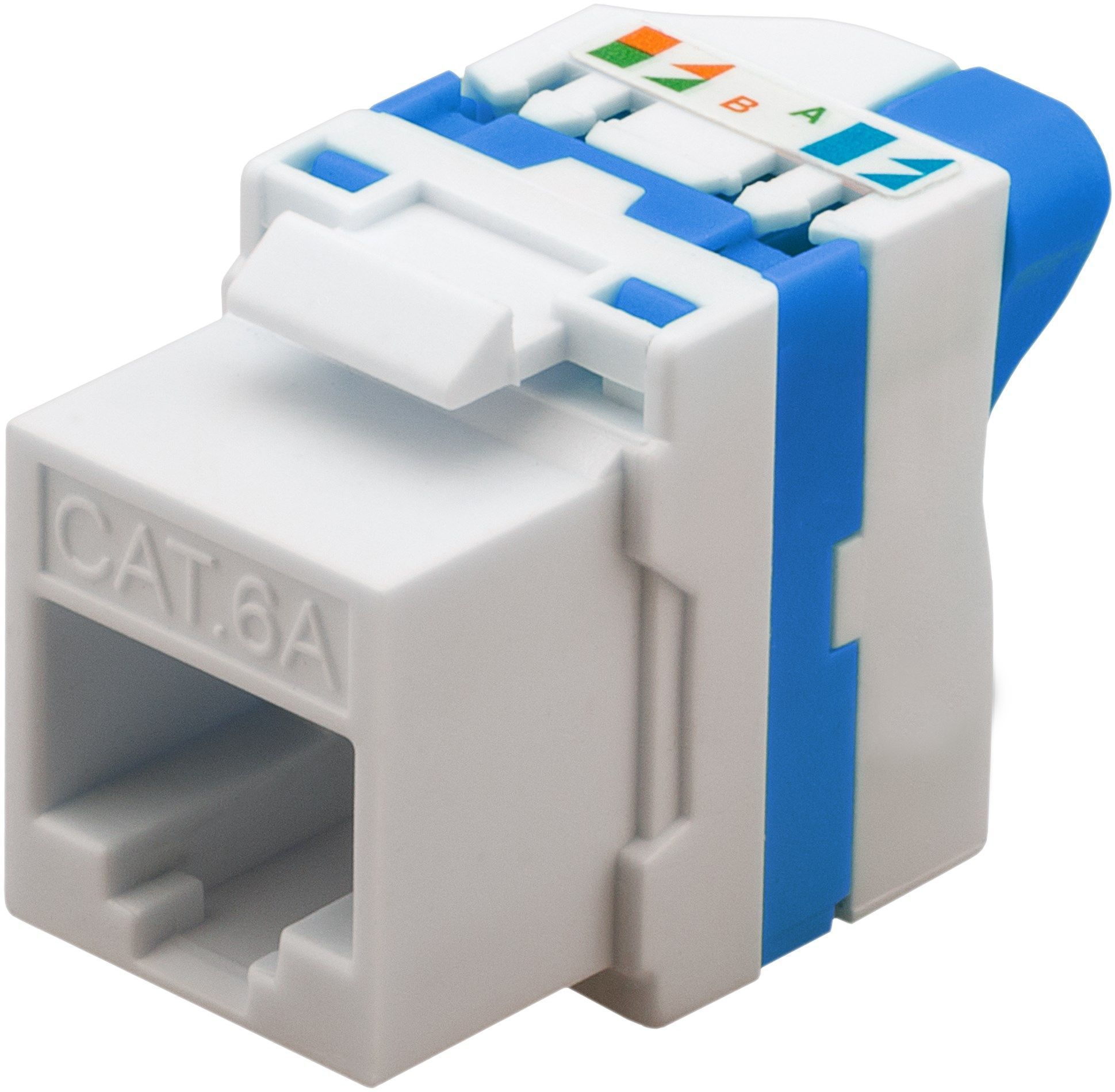 Jack CAT 6 White Modular Keystone C6 keystone Jack