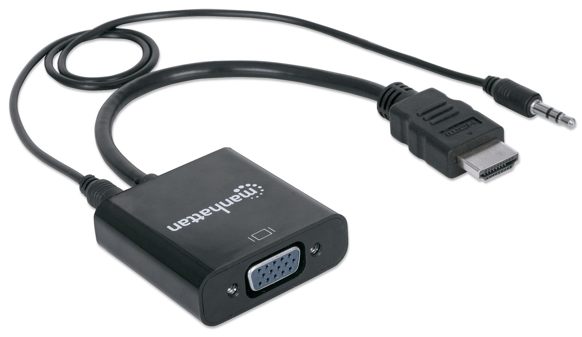 Cavo Convertitore da HDMI a VGA con Audio e Mic...