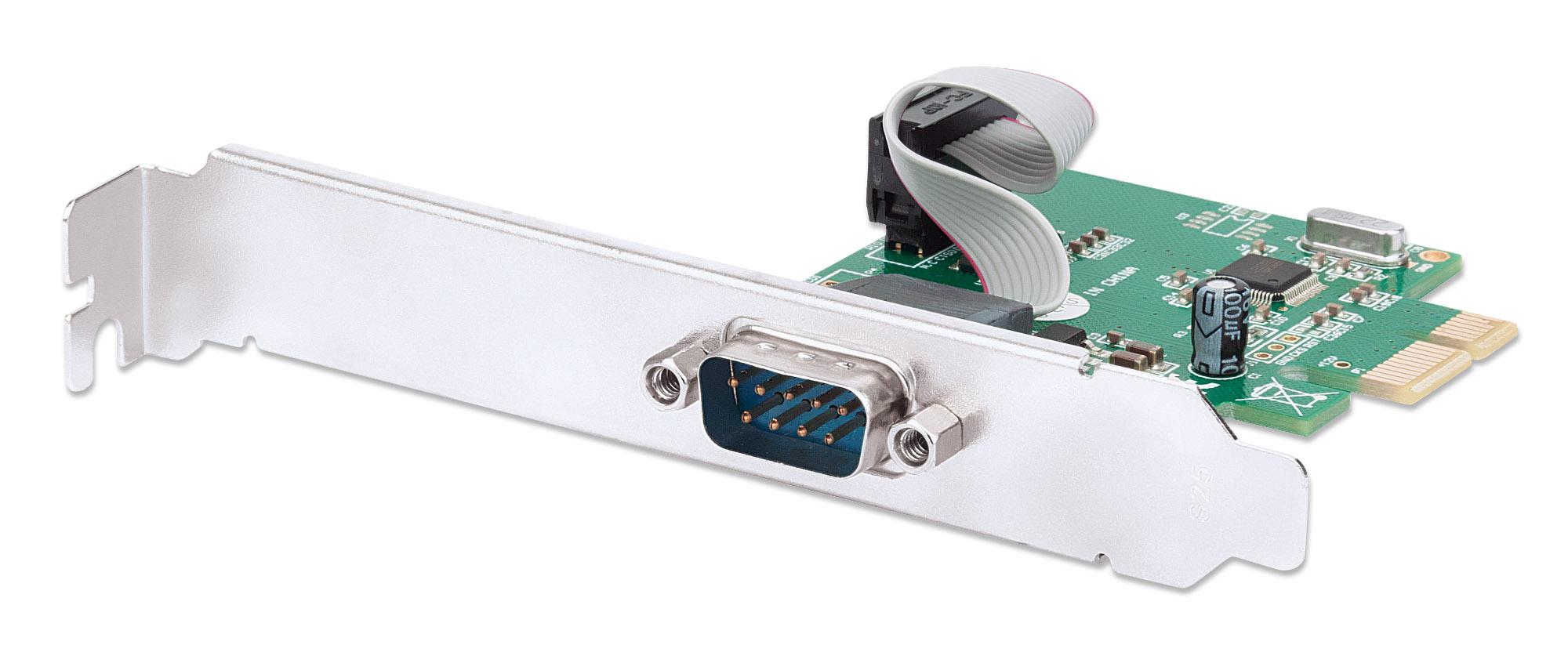 Scheda PCI Express Seriale 1 Porta DB9 M