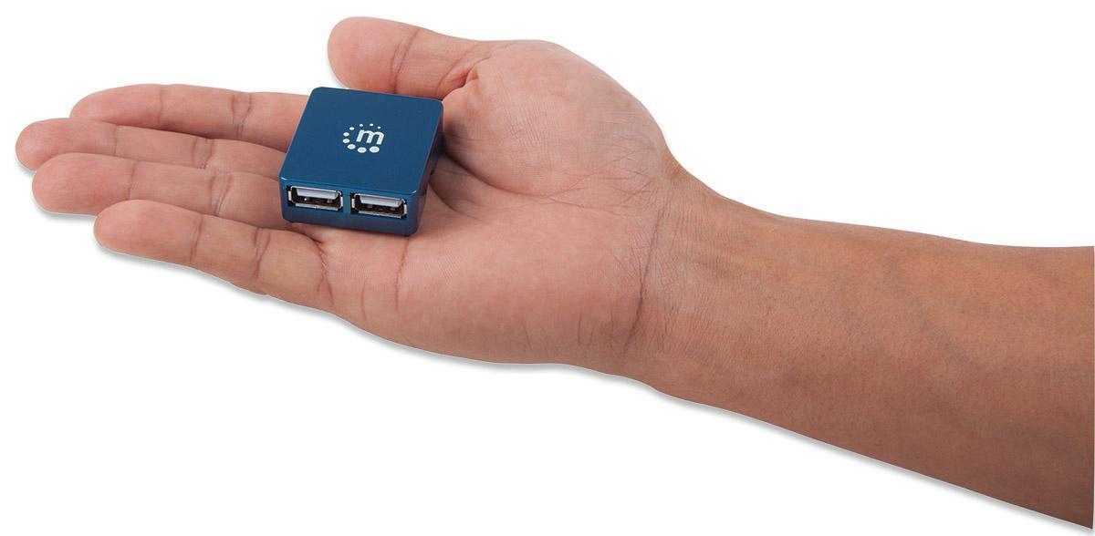 Micro USB Hub 2.0 4 porte, attivo