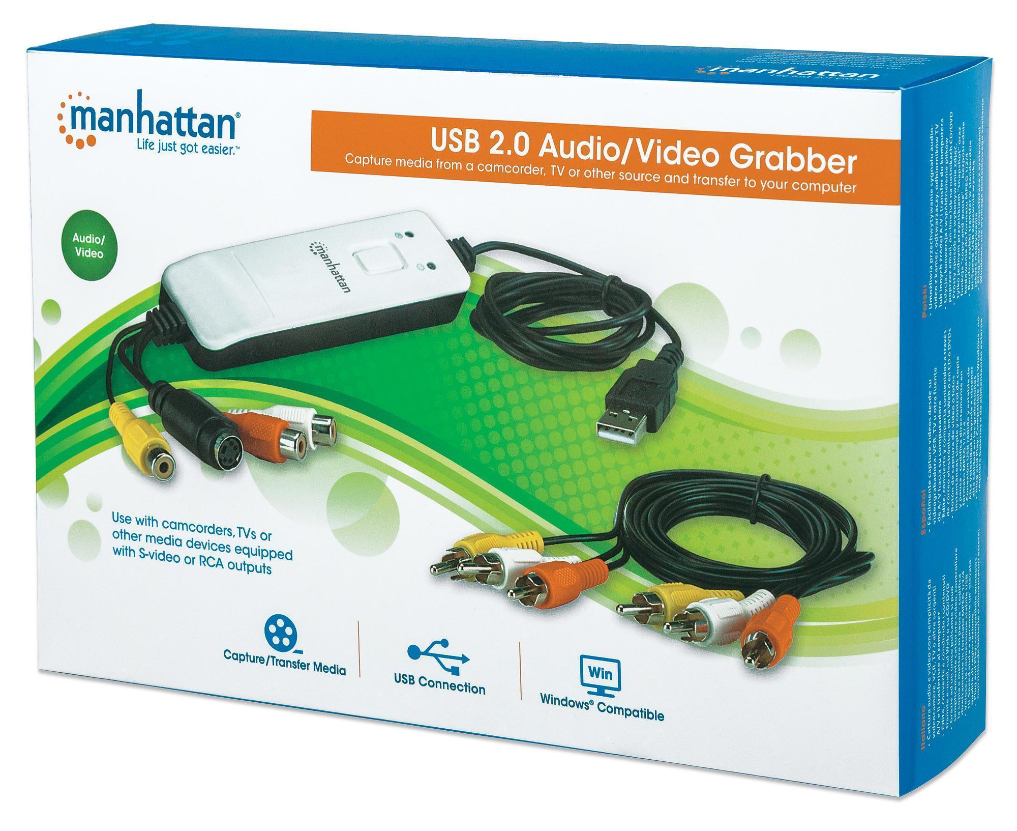 Hi-Speed USB Audio/Video Grabber