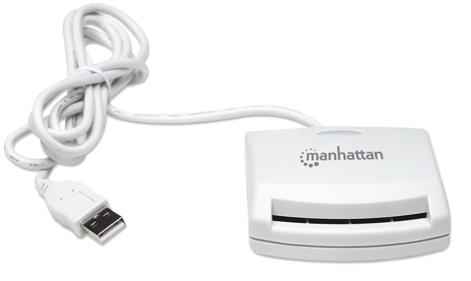 manhattan lettore di smart card usb esterno i card cam usb  Lettore di Smart card USB esterno - Manhattan - I-CARD CAM-USB ...