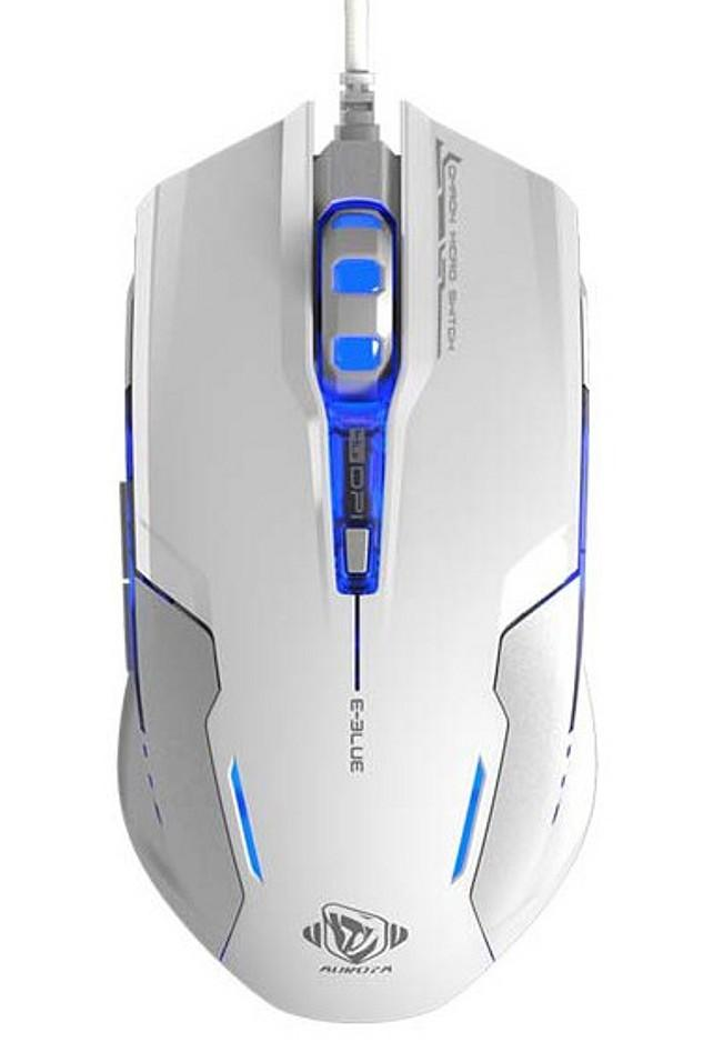 Mouse Gaming USB 3000dpi 6 Tasti Bianco Auroza-...