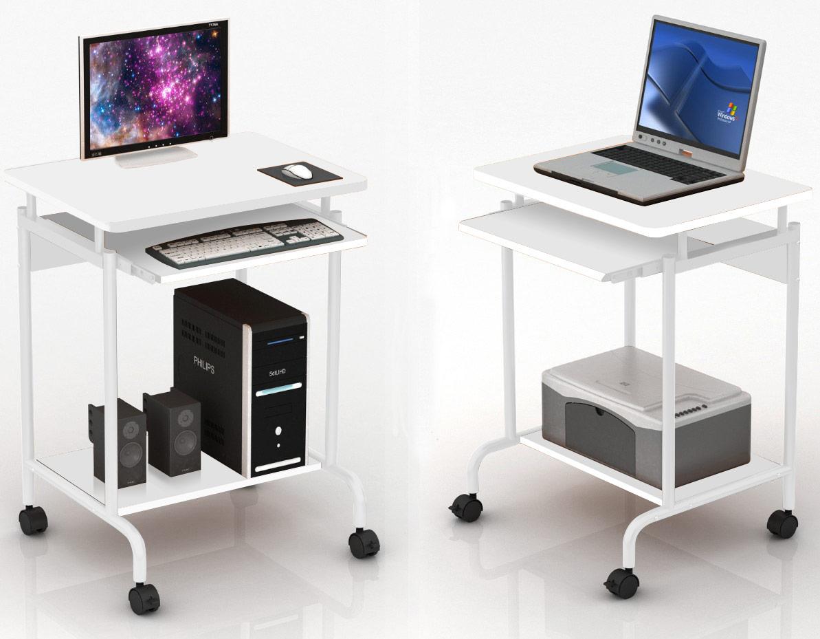 Scrivania per Computer ''''Compact'''' Bianco
