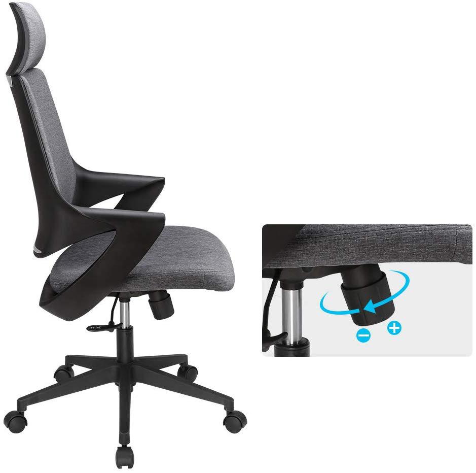 Sedia Per Ufficio Con Schienale Alto Design Moderno Grigio Sedie Per Ufficio Arredamento Ufficio Ufficio