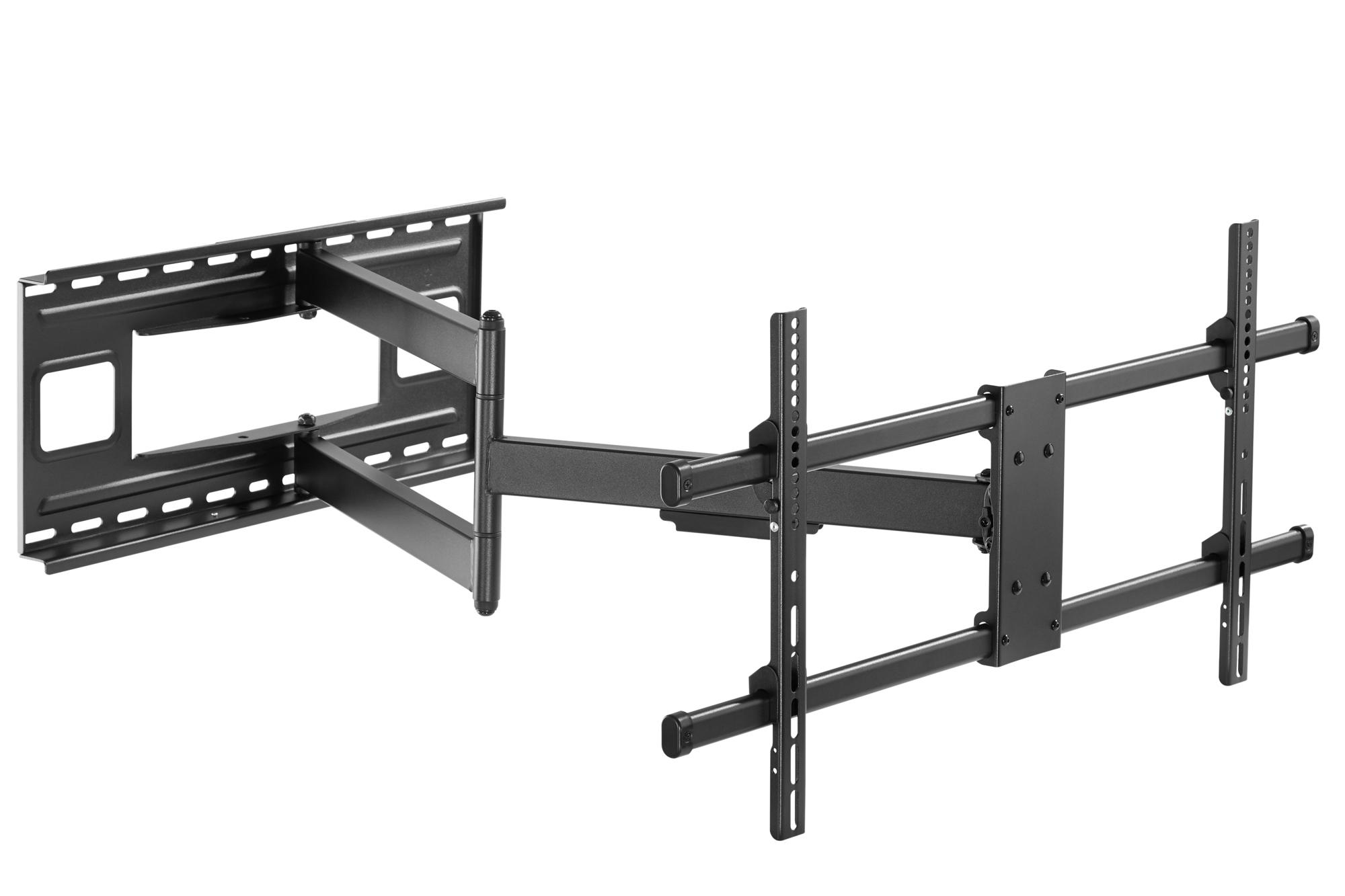 Staffa a Muro Braccio Estensibile fino a 1015 mm per LCD 43-80'' Nero