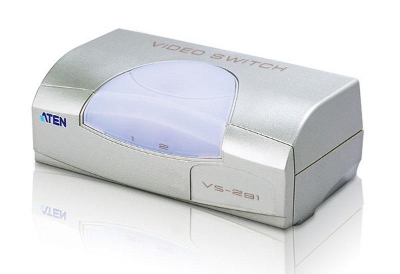 Video Switch 2 vie SVGA con alimentatore, VS291