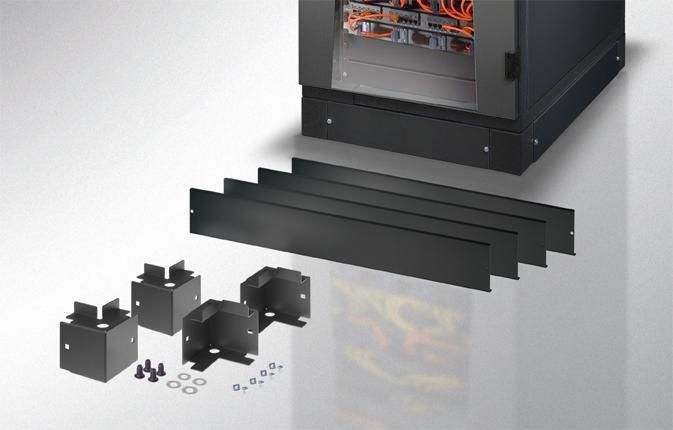 Zoccolo 600 x 600 mm per Armadi Rack Serie EP Nero